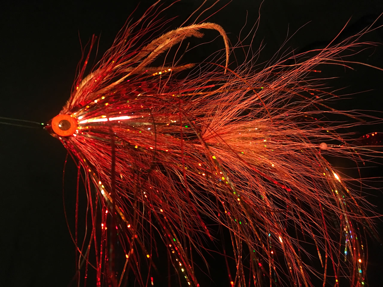 Big Red Head - articulated pike fly
