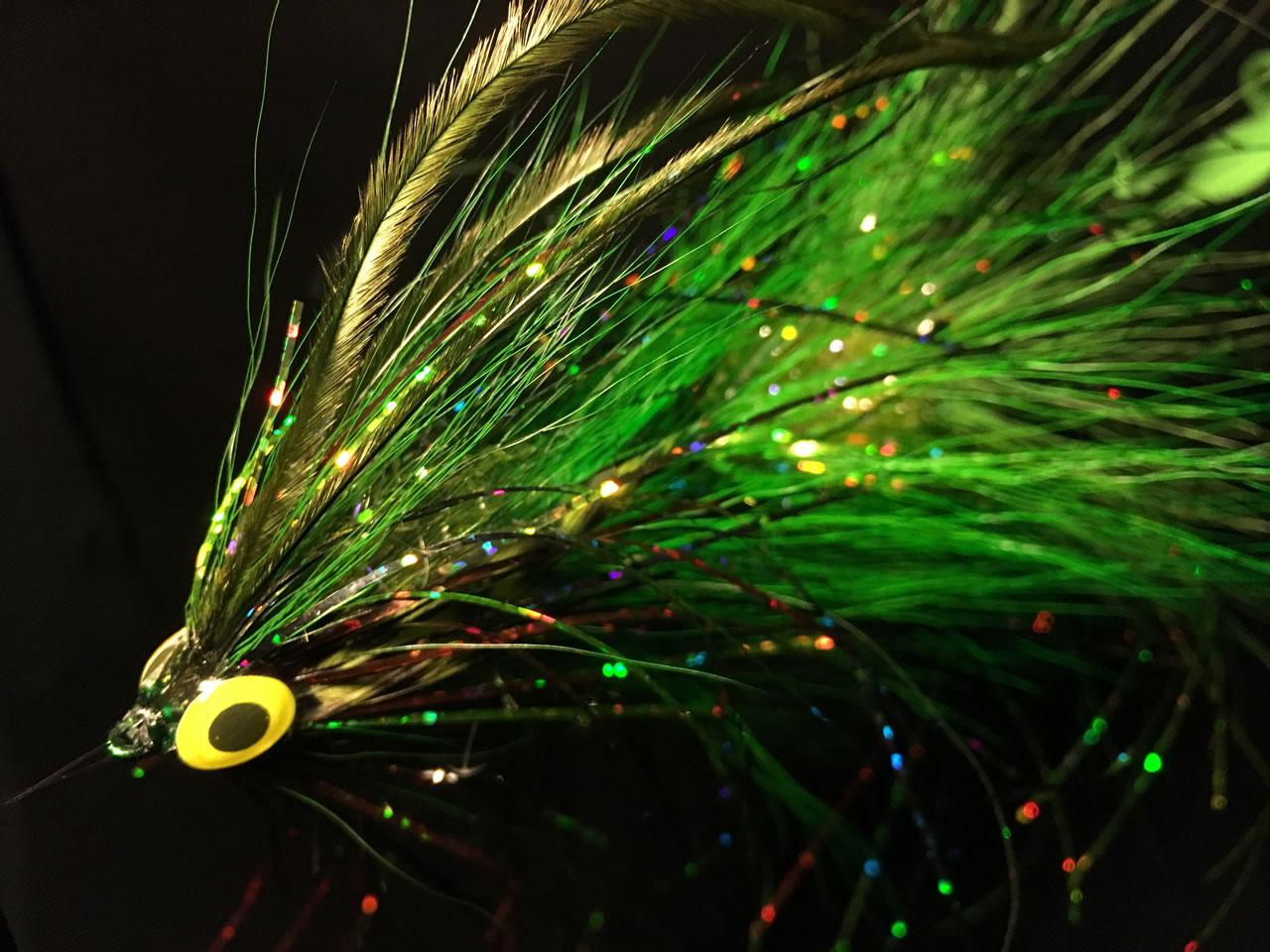 Irresistible Hulk - articulated pike fly