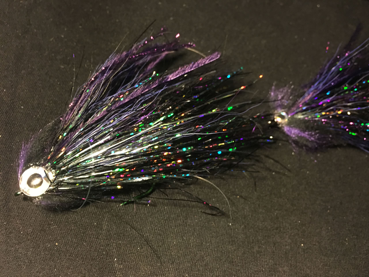 I will follow - Black, articulated pike fly