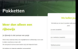 Website Rijschool by Bart