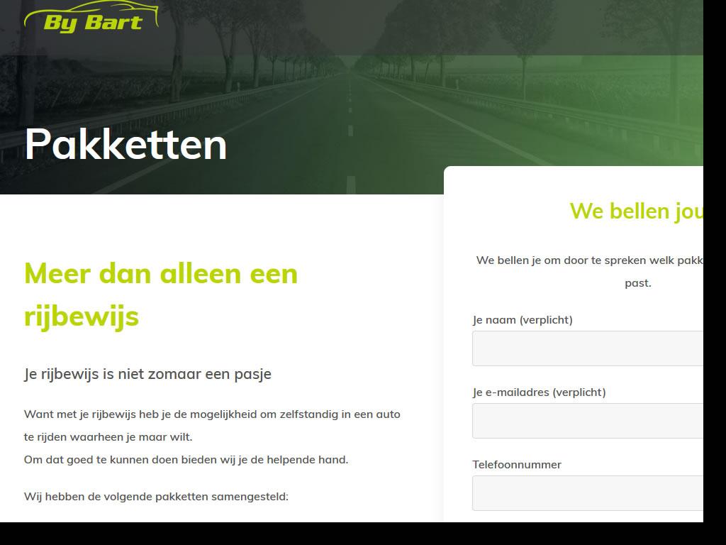 Website Rijschool by Bart